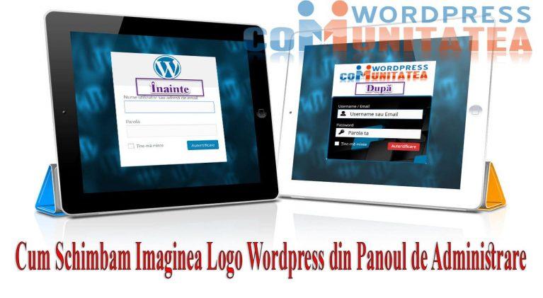 Cum Schimbam Imaginea Logo din Panoul de Administrare Wordpress