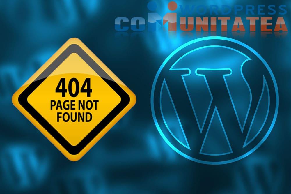 404 Not Found - Erori WordPress