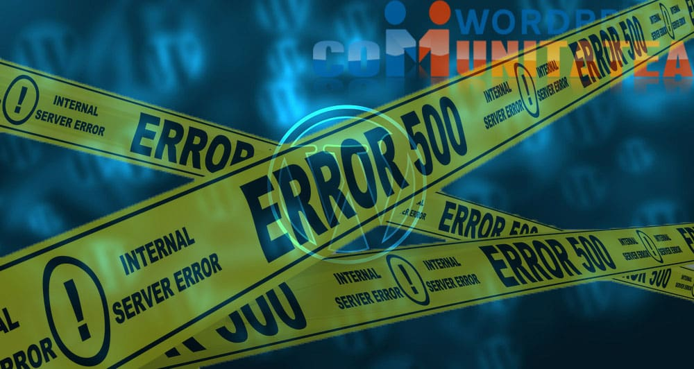 Erori WordPress - 500 Internal Server Error