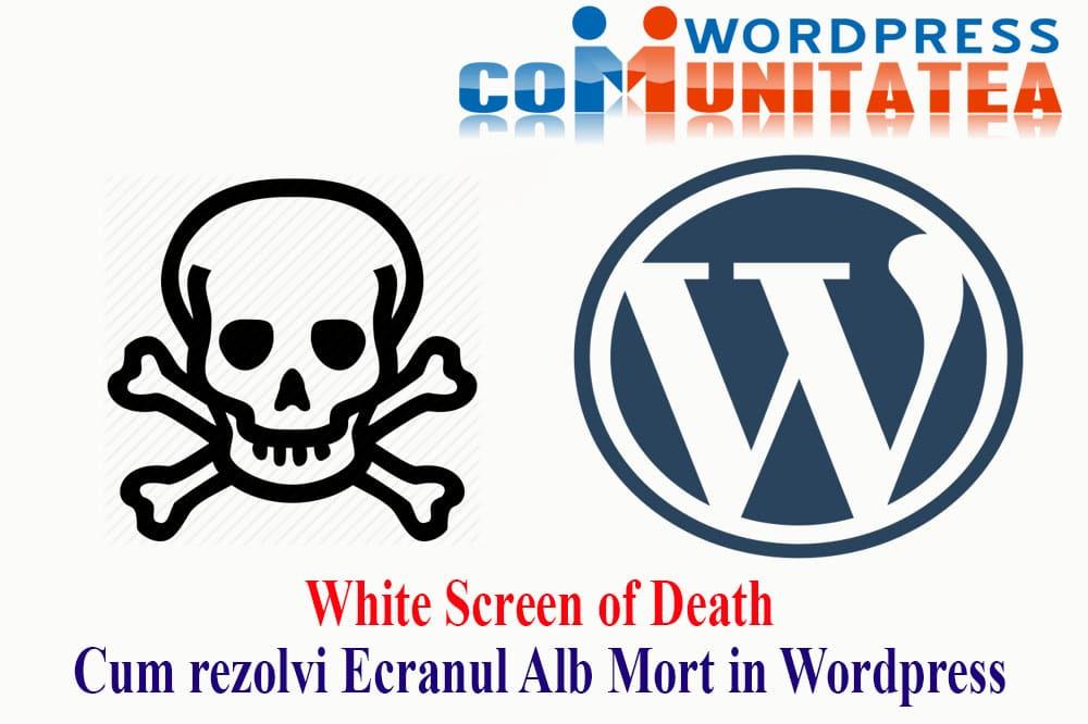 White Screen of Death - Cum rezolvi Ecranul Alb Mort in Wordpress
