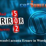 502 Bad Gateway - Cum rezolvi aceasta Eroare in Wordpress