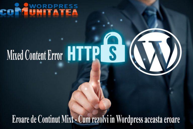 Eroare de Continut Mixt - Cum rezolvi in Wordpress aceasta eroare