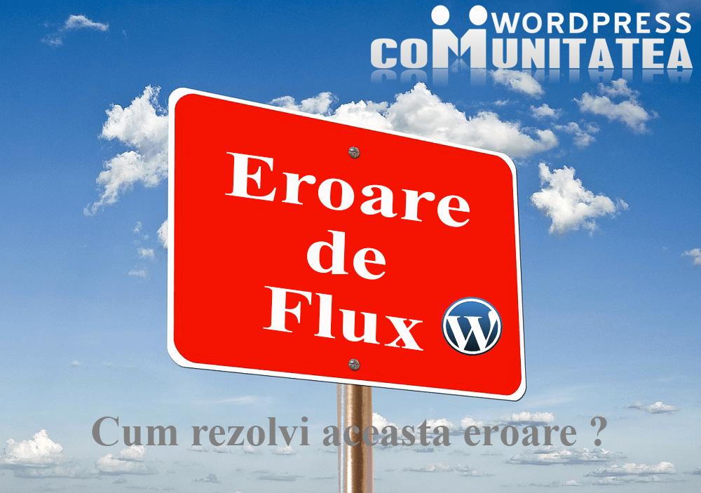 Eroare de Flux în WordPress