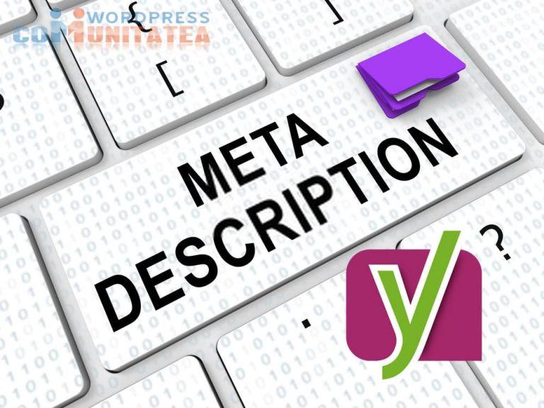 Meta Descriere - Cum te ajută pluginul SEO Yoast să scrii una