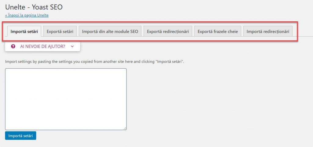 Instrumente Import și Export