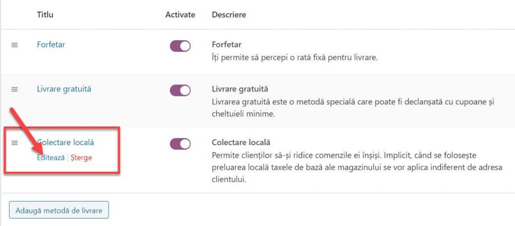 Faceți clic pe Colectare locală