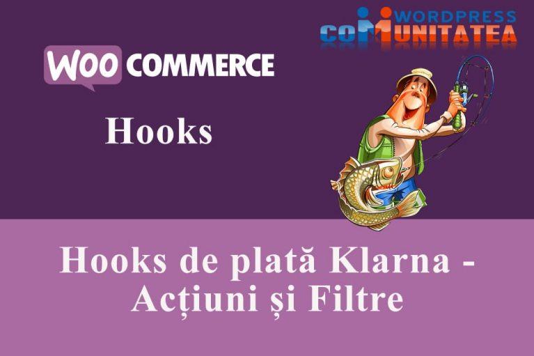 Hooks de plată Klarna - Acțiuni și Filtre