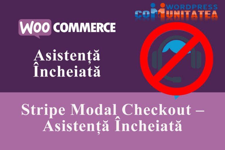 Stripe Modal Checkout – Asistență Încheiată
