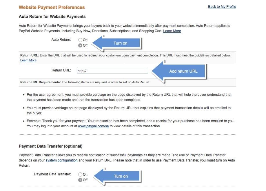 Permite transferul de date de plată
