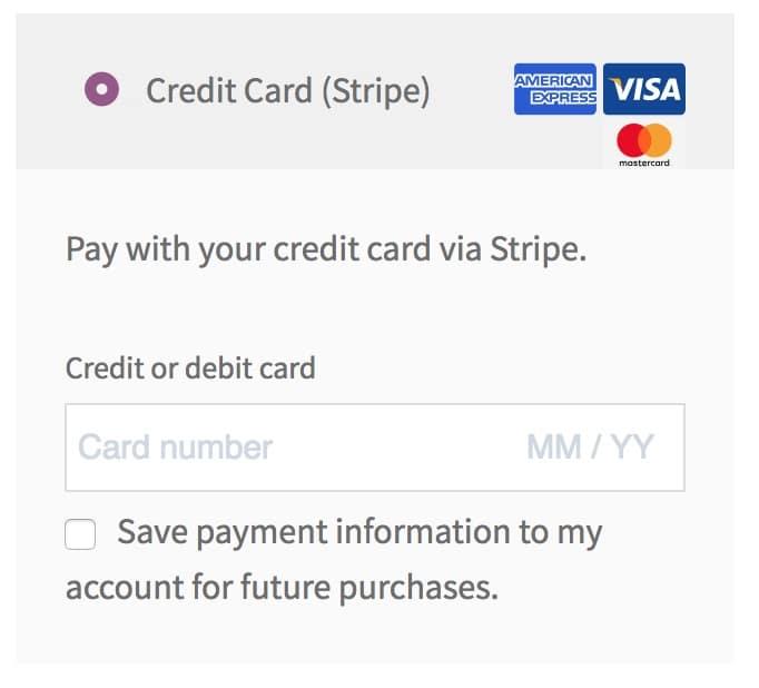 Inline Credit Card Form