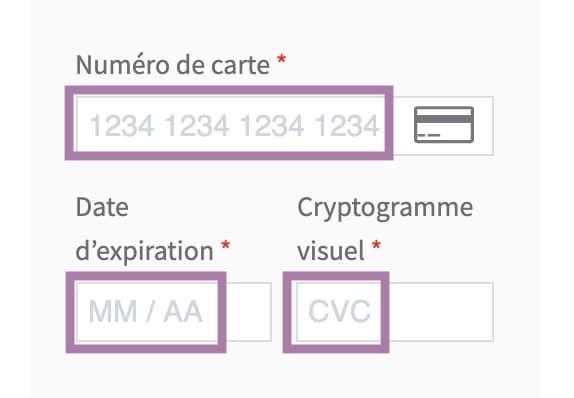 Traducerea formularul cardului de credit