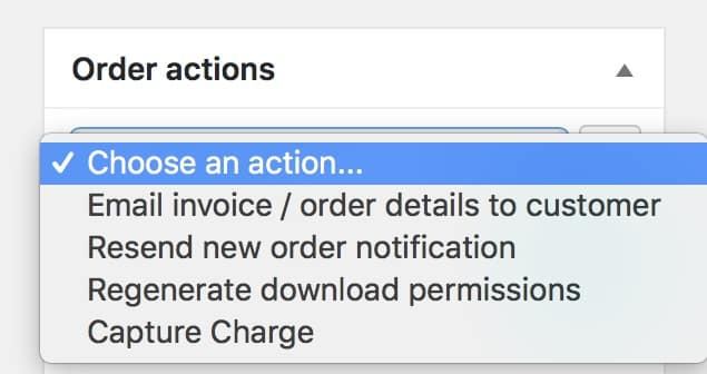 Order Actions