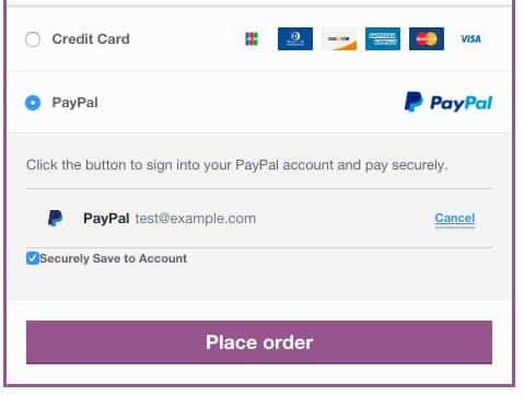 Woocommerce-braintree-paypal-vault-payment