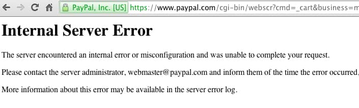 De ce apare o eroare de server interna