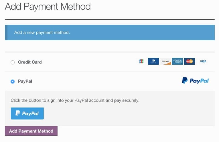 Woocommerce-braintree-link-paypal-account