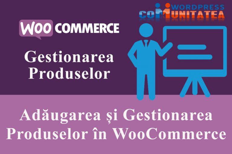 Adăugarea și Gestionarea Produselor în WooCommerce