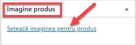 Setează imaginea pentru produs