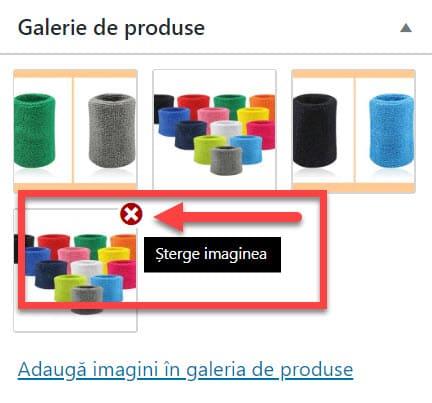 Eliminați imaginile din galeria de produse