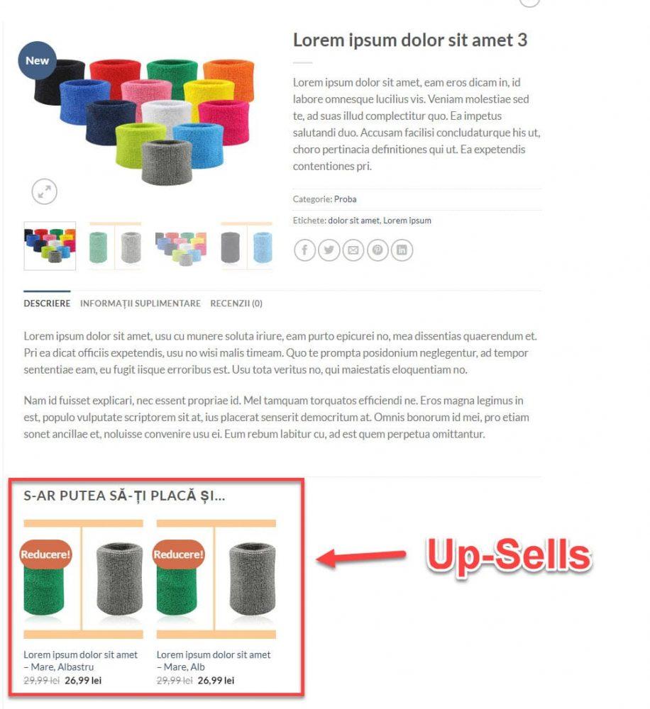 Up-Sells – Vânzări Ascendente