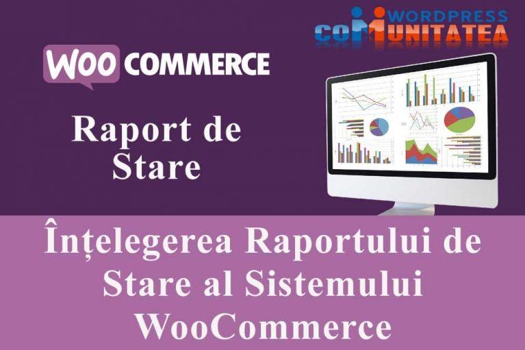 Raportul de Stare al Sistemului WooCommerce