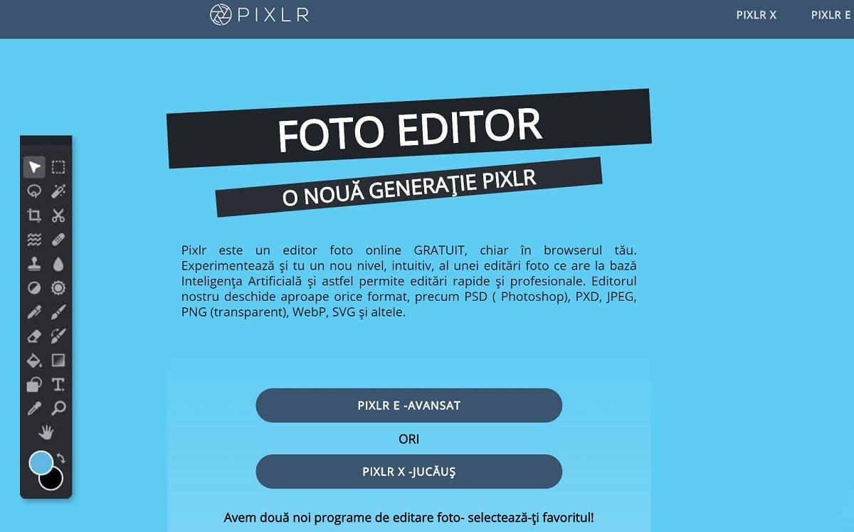 Pixlr (Online Platform)