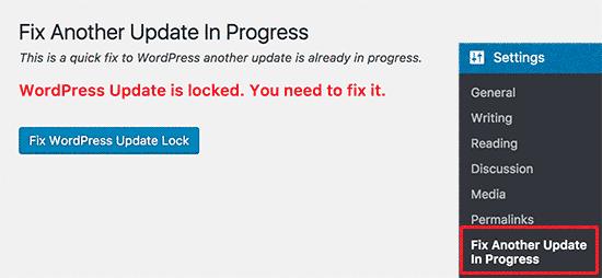 Fix Another Update In Progress