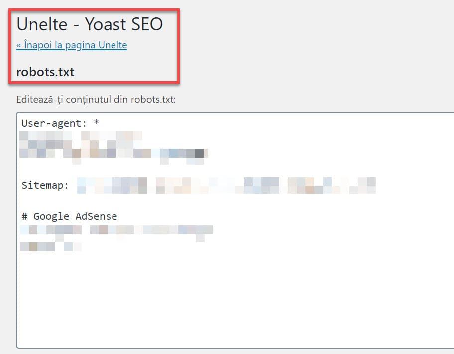 Yoast editor