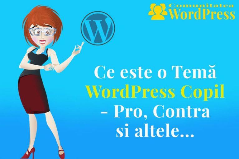 Ce este o temă WordPress Copil – Avantaje și Dezavantaje