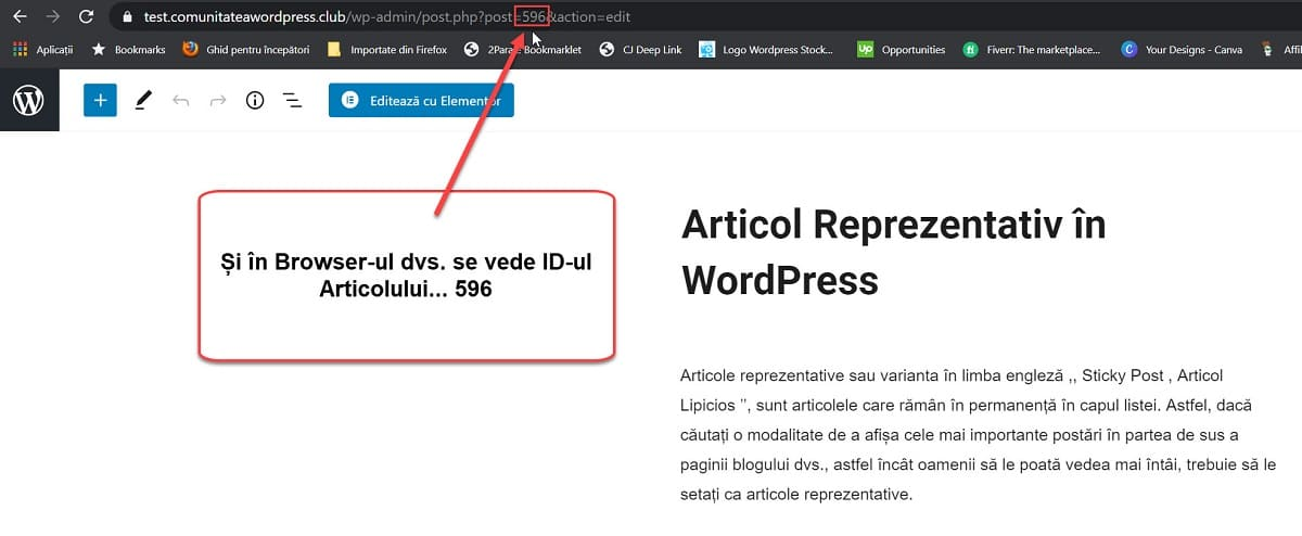 ID-ul Articolului în Browser