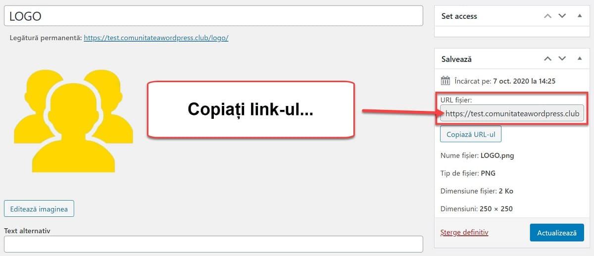 Copiați linkul