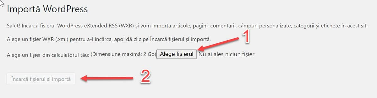 Încărcați fișierul XML