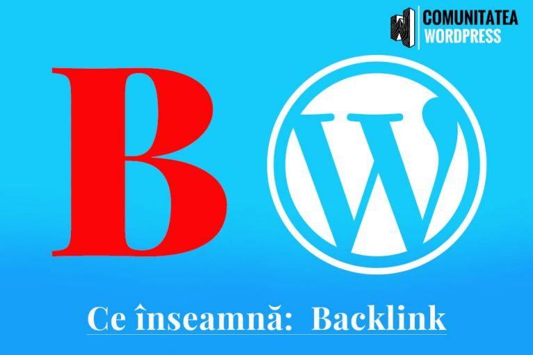 Ce înseamnă: Backlink