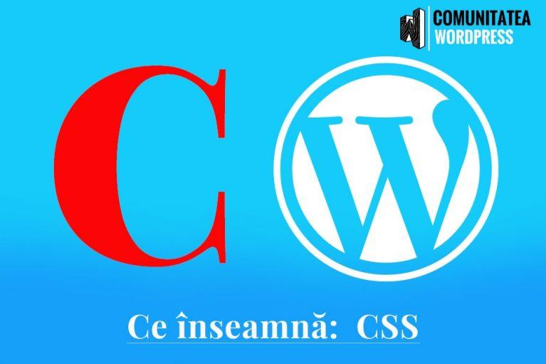 Ce înseamnă: CSS