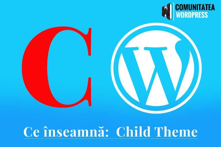 Ce înseamnă: Child Theme - Temă Copil