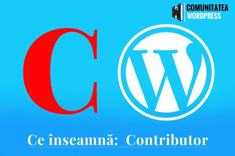 Ce înseamnă: Contributor – Colaborator