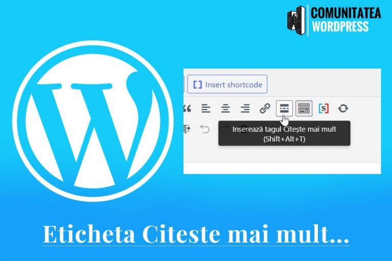 Eticheta Citește mai mult - Cum se folosește corect în WordPress