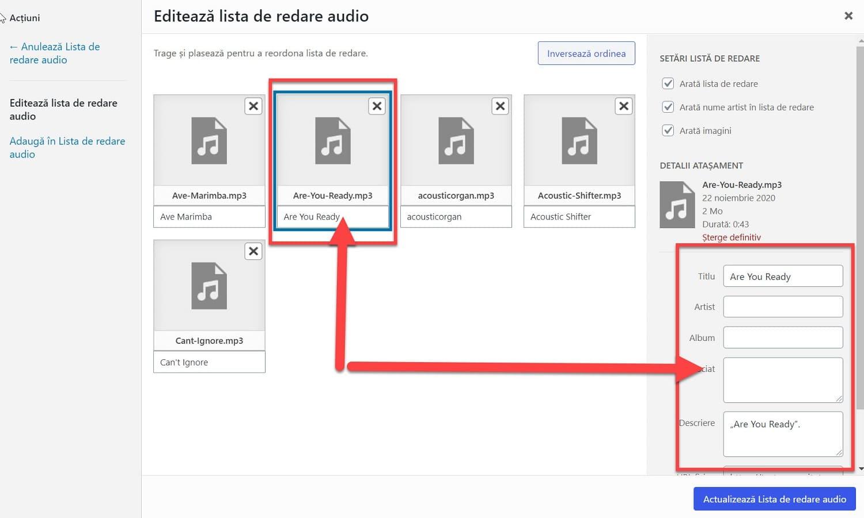 Editare fișier audio