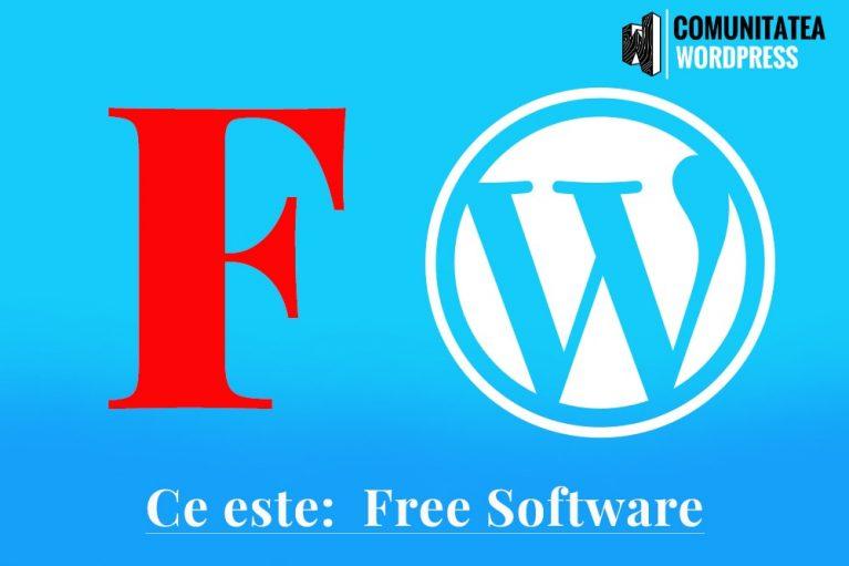 Ce este: Free Software - Software gratuit