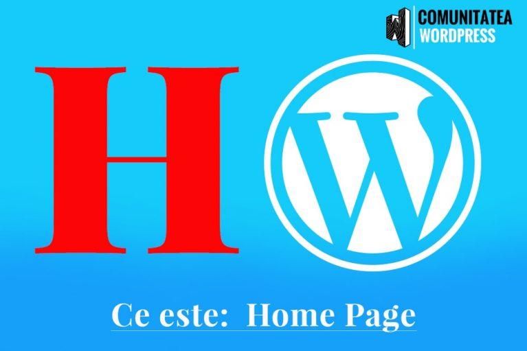 Ce este: Home Page - Pagina acasă