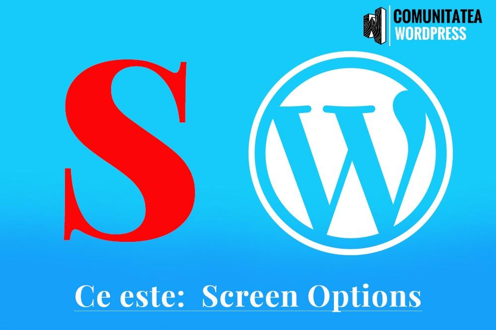 Ce este: Screen Options - Opțiuni ecran