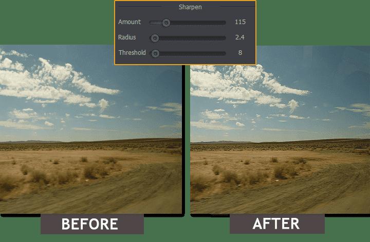 Estomparea fotografiilor: Înainte-După
