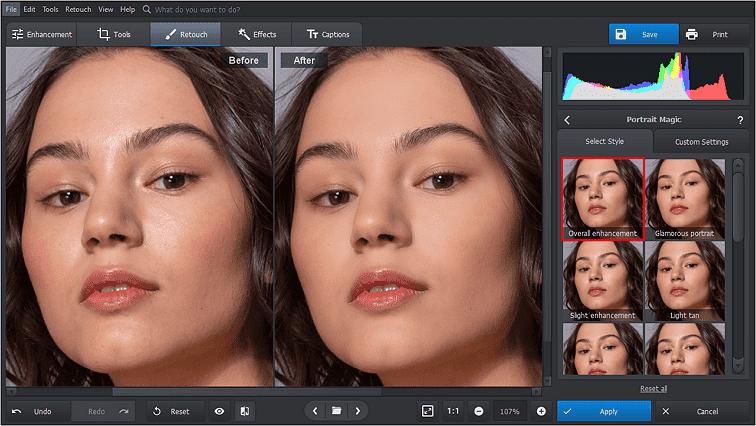 Folosiți Portrait Magic pentru a obține o piele perfectă