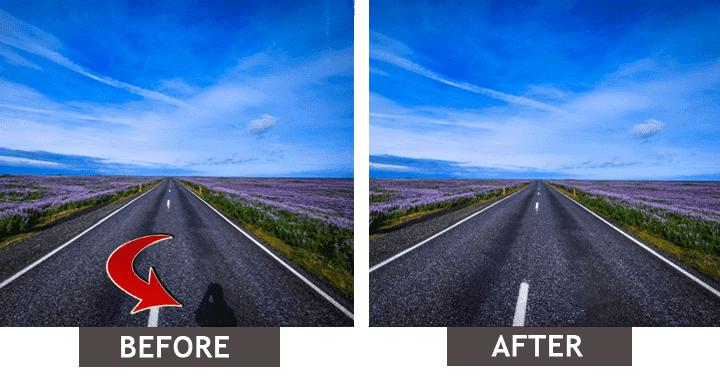 Eliminarea umbrei din imagine: Înainte-După