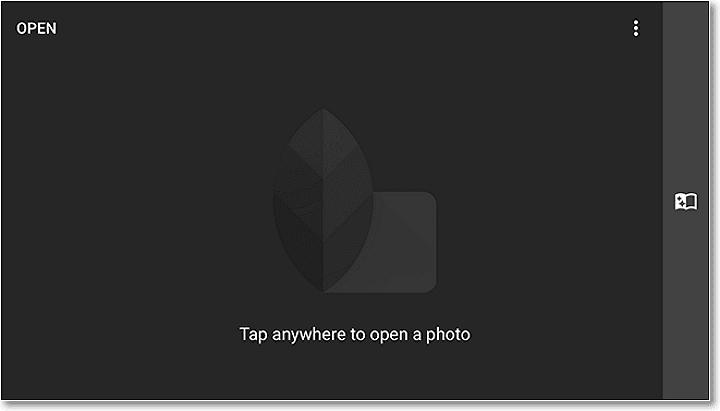 Apăsați pe ecran pentru a vă deschide fotografia