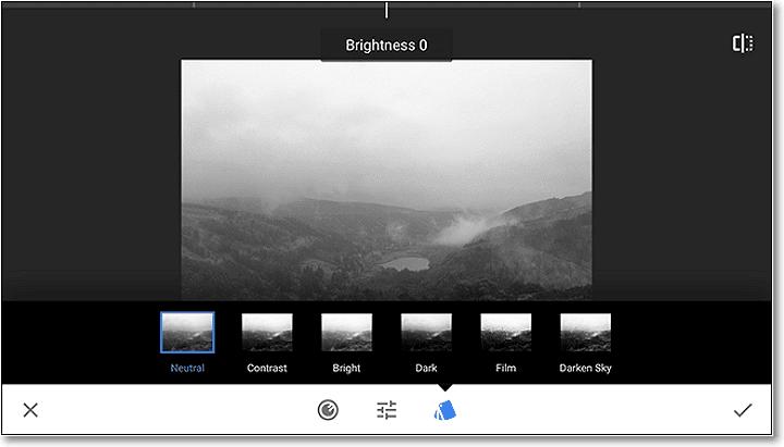 Există 6 presetări de filtru dintre care puteți alege, în funcție de obiectivul dvs.