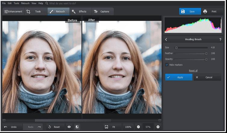 Eliminați petele din fotografii în câteva clicuri