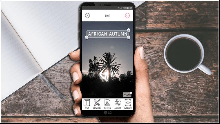Utilizați smartphone-ul pentru adăuga texte fotografiile