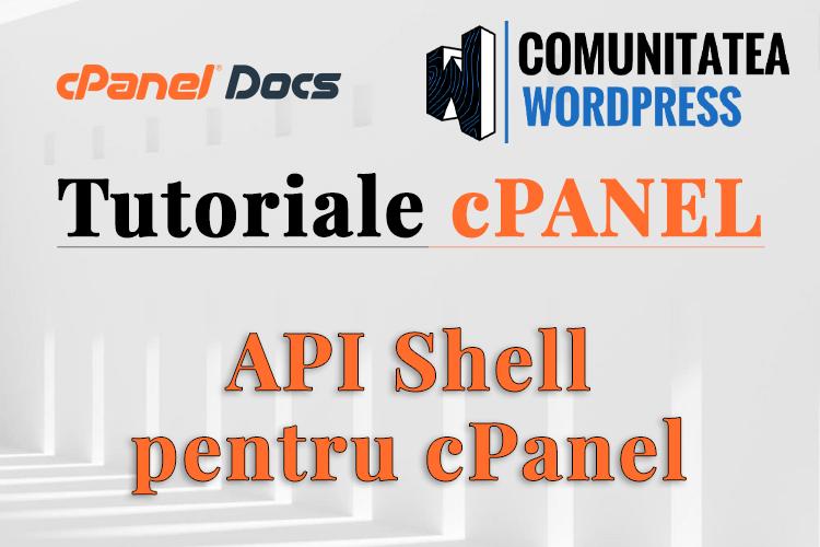 API Shell - Cum se activează în cPanel