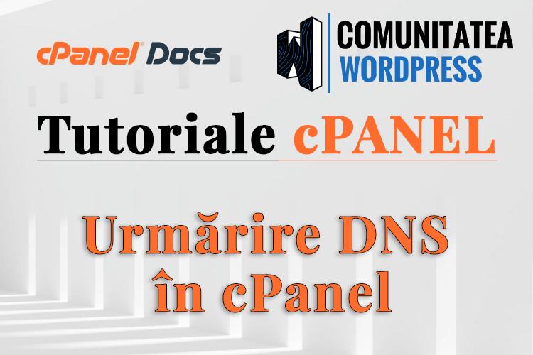 Cum se folosește instrumentul de Urmărire DNS în cPanel