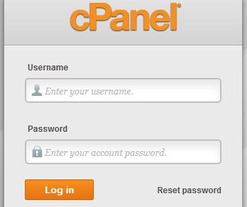 Autentificare în cPanel